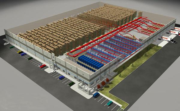 Almac n influencia de construcci n para estanter as t for Warehouse plans designs
